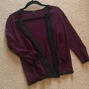 Purple and black cardigan